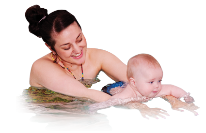 Swimming with Child - Outdoor pool